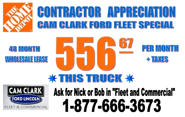 The Home Depot Contractor Appreciation Day Cam Clark Ford Lincoln Fleet Commercial